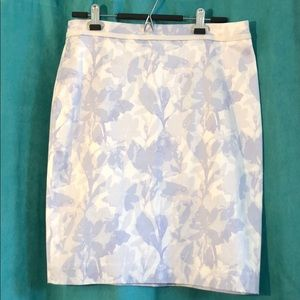 NWT Banana Republic Blue/White Floral Skirt